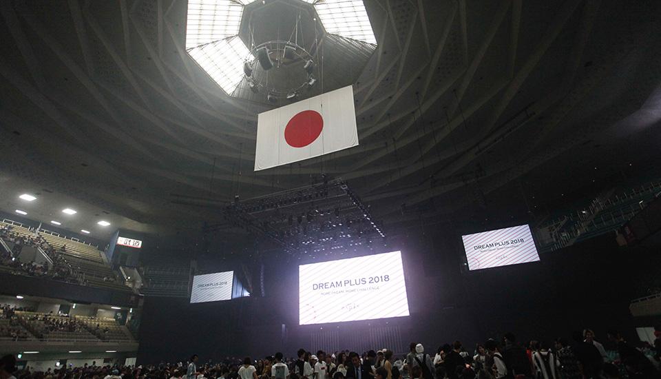 日本武道館でのコンテスト&ヘアショー DREAM PLUS